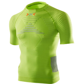 X-Bionic M's Effektor Power Running Shirt SS GreenLime/Pearl Grey